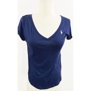Polo Ralph Lauren Navy and White Short Sleeve Tee